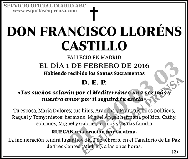 Francisco Lloréns Castillo